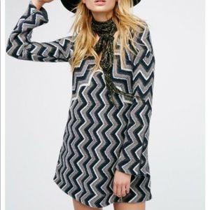Free People chevron print sweater dress